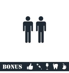 Gay icon flat vector image