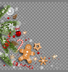 gingerbreads holiday decor vector image