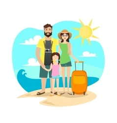 Happy Family Traveling vector