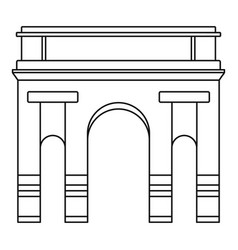 Historical arch icon outline style vector