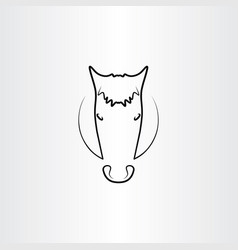 horse black icon symbol vector image
