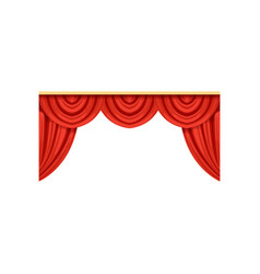 icon of red silk or velvet curtains and pelmets vector image