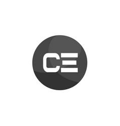Initial letter ce logo template design vector