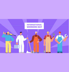 international workers day labour worker vector image