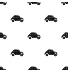 italian retro car from italy icon in black style vector image