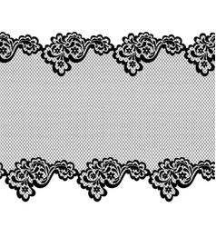 lace horizontal seamless pattern border vector image