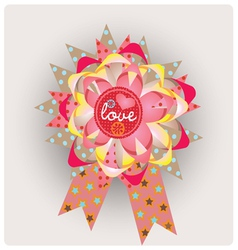 Love message paper jewelry vector image