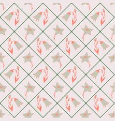 lovely flower seamless pattern vector image vector image