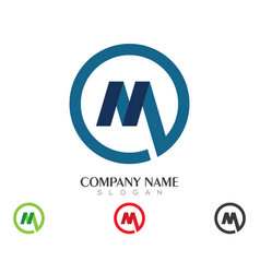 M letter logo business template vector