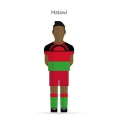 Malawi football player Soccer uniform vector