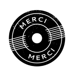 Merci rubber stamp vector