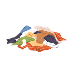 Mess dirty laundry pile untidy stained vector