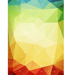 Multicolored geometric pattern warmen farben vector