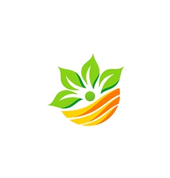 nutrition leaf eco botany green logo vector image