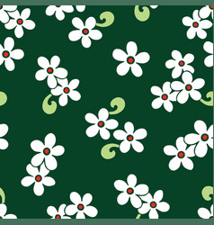 Pattern of the decorative chamomiles vector
