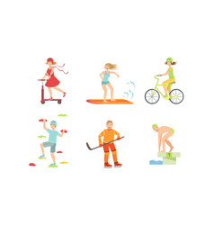 People doing different kinds sports set vector
