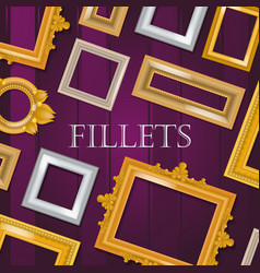 picture framing banner flyer poster vector image