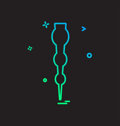 pin icon design vector image