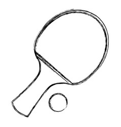 ping pong racket and ball vector image