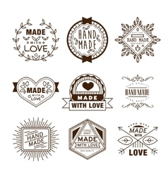 Retro Design Insignias Logotypes Hand Made vector