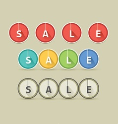 Round Long Shadow Sale Style vector image