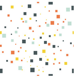 Seamless geometric pattern square isolated on vector