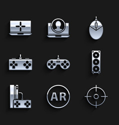 Set gamepad ar augmented reality target sport vector