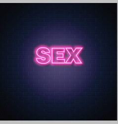 Sex neon sign vintage signage vector