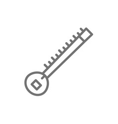 sitar indian musical instrument line icon vector image