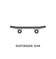 skateboard icon simple flat style vector image