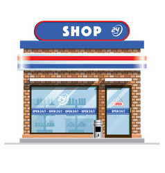 small convenience store vector image