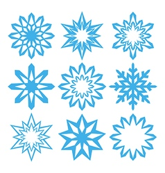 Snowflake Design elements for Christmas and New Ye vector image