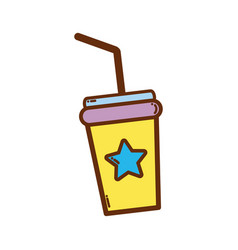 Soda beverage in the cinema movie scene vector