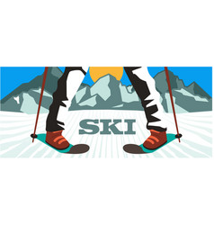 sport sky mountain background image vector image