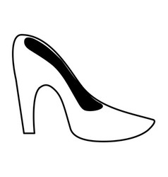 Stiletto heel shoe icon image vector