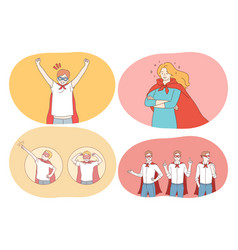 superhero superman power strength confidence vector image