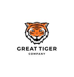 tiger logo icon vector image