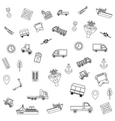 Transport and logistics background vector