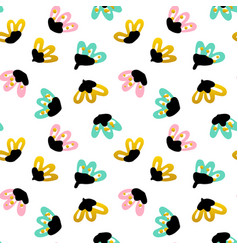 trendy floral seamless pattern vector image