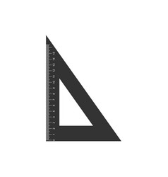 Triangular ruler icon isolated straightedge vector