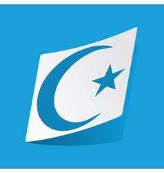Turkey moon sticker vector image