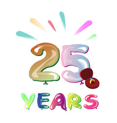 twenty five years greeting card vector image