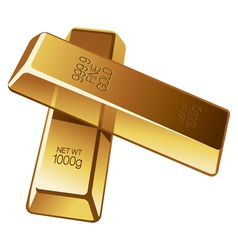 two gold bars vector image