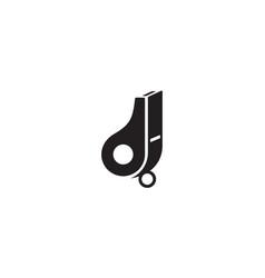 whistle logo design concept vector image