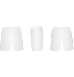 White shorts template vector