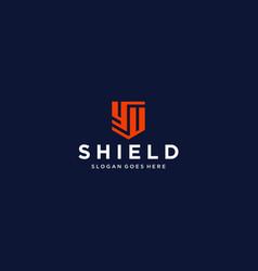 yu yy shield logo vector image