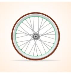 Bicycle vintage wheel vector image