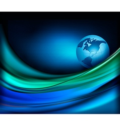 Business elegant abstract background with globe vector image vector image