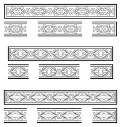Decorative bands vector image vector image