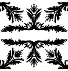 Decorative seamless black-and-white texture vector image vector image